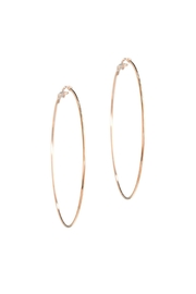 Gemma Collection Large Hoop Earrings - Front cropped