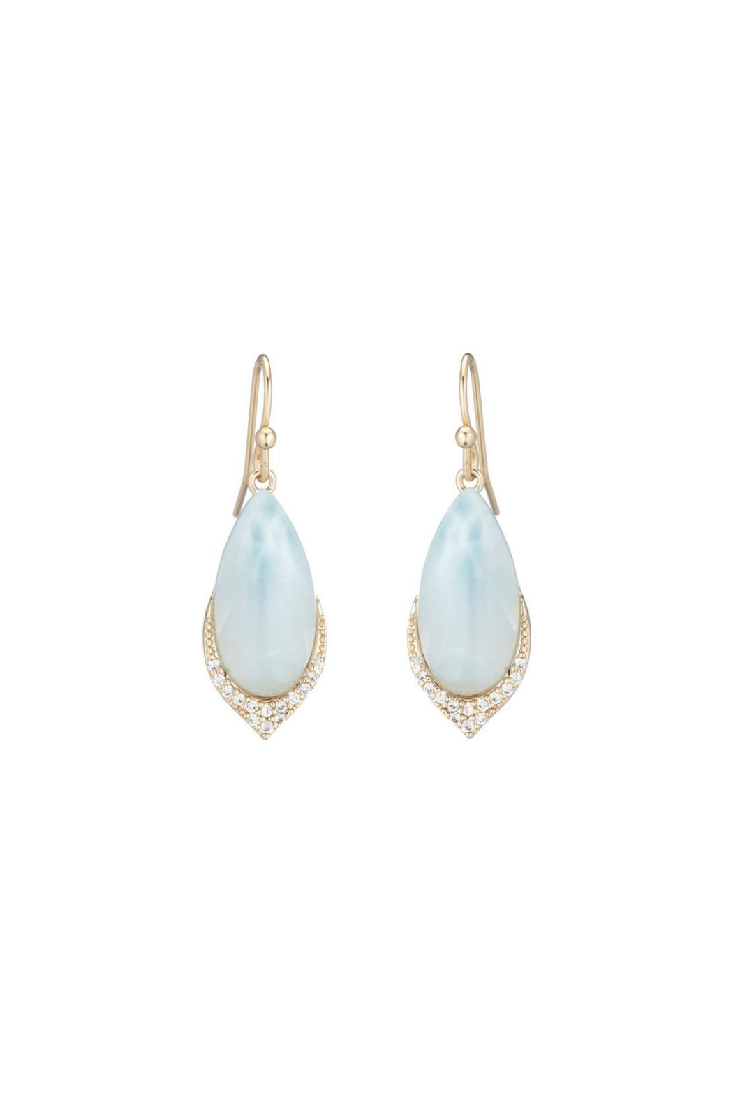 Gemma Collection Larimar Pave Earrings - Main Image