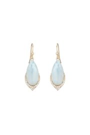 Gemma Collection Larimar Pave Earrings - Product Mini Image