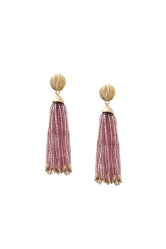Shoptiques Product: Lavendar Tassel Earrings