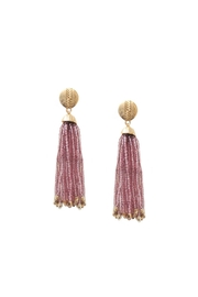 Gemma Collection Lavendar Tassel Earrings - Product Mini Image