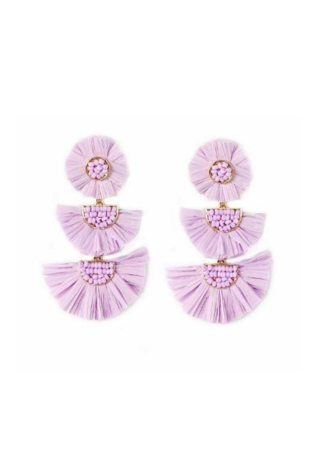Gemma Collection Lavender Statement Earrings Front Cropped Image