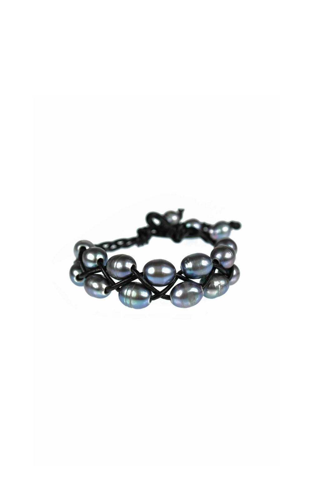 Gemma Collection Leather Pearl Bracelet - Main Image