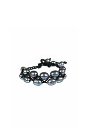 Gemma Collection Leather Pearl Bracelet - Product Mini Image