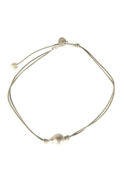 Gemma Collection Leather Pearl Choker - Product Mini Image