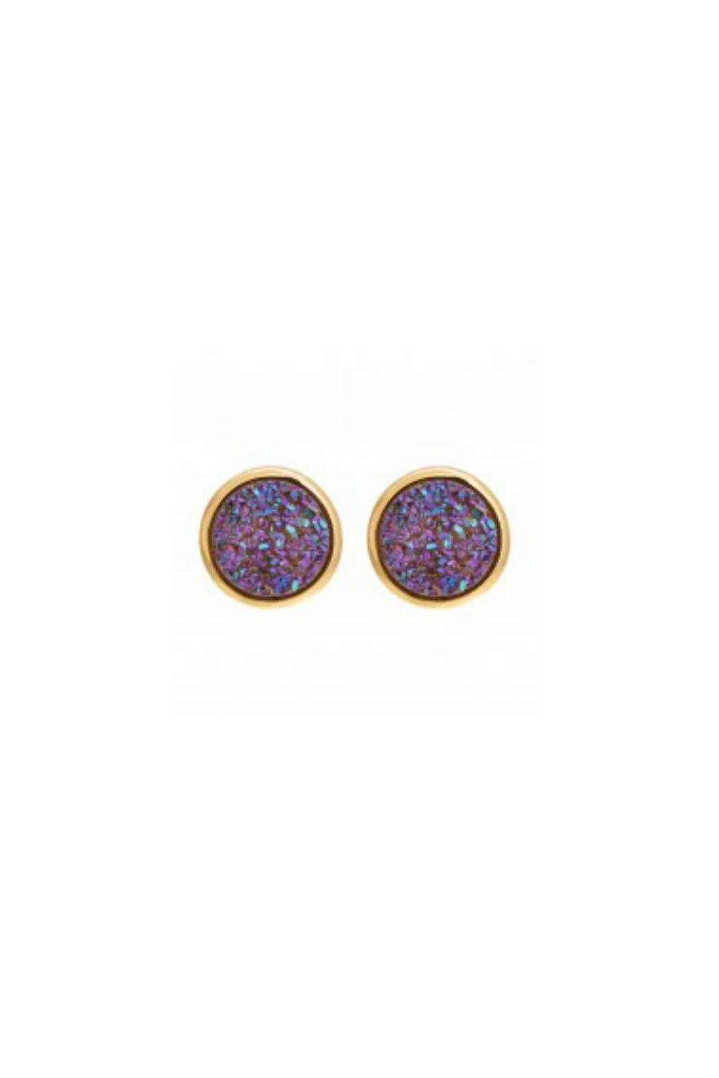 Gemma Collection Lilac Druzy Studs - Main Image
