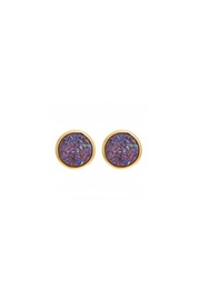Gemma Collection Lilac Druzy Studs - Front cropped