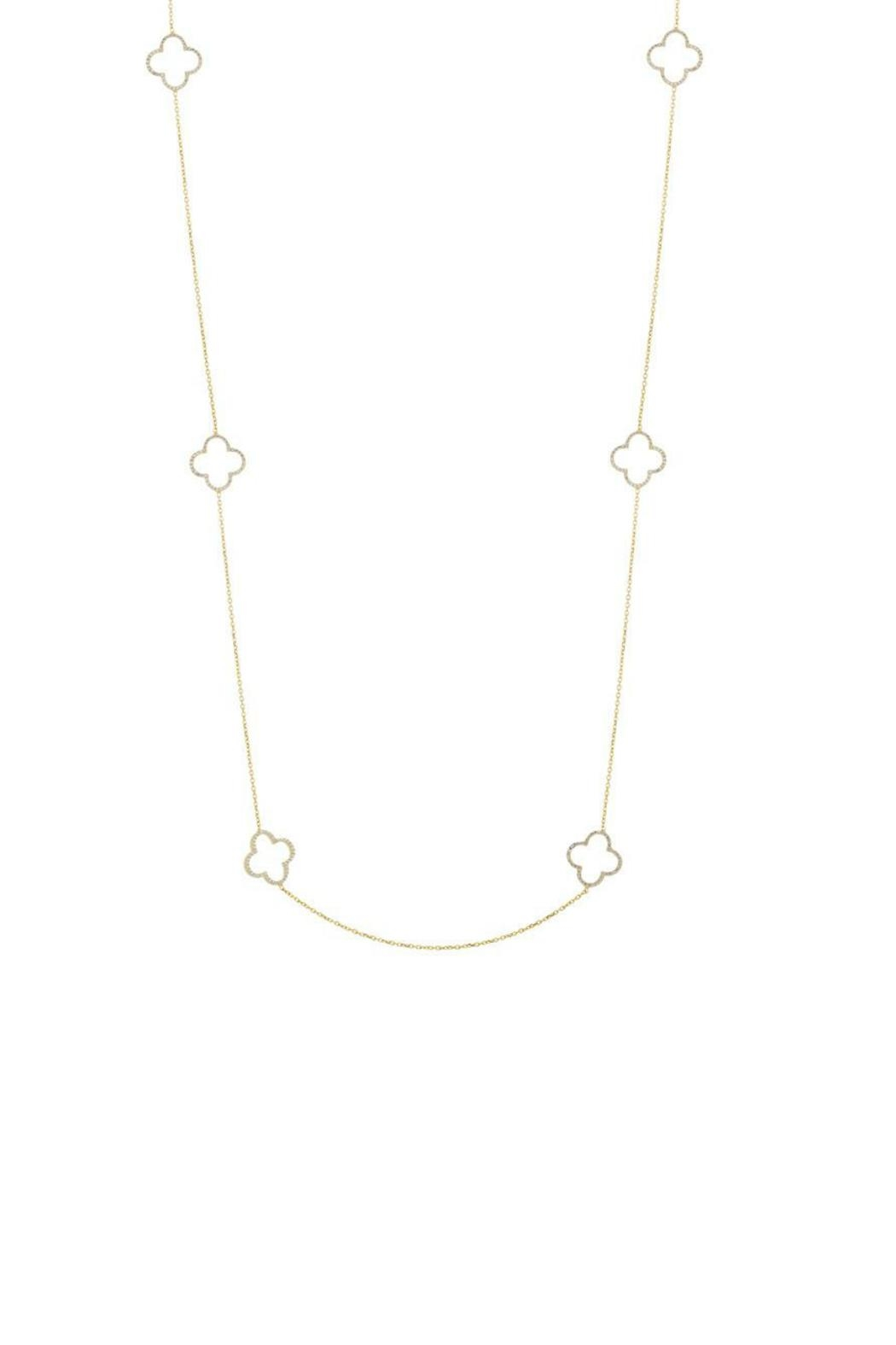 Gemma Collection Long Clover Necklace - Main Image