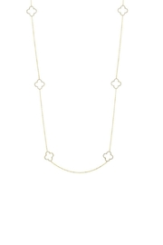 Gemma Collection Long Clover Necklace - Front cropped