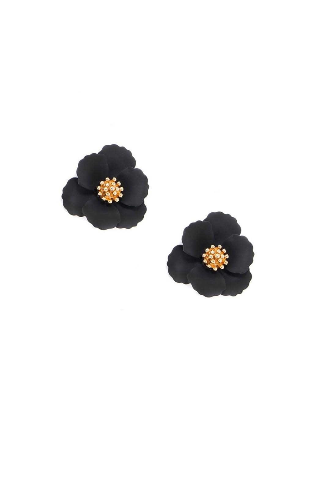 Gemma Collection Metal Flower Studs - Front Cropped Image