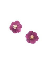 Gemma Collection Metal Flower Studs - Product Mini Image
