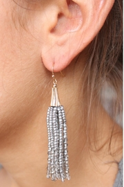 Gemma Collection Metallic Tassel Earrings - Front cropped