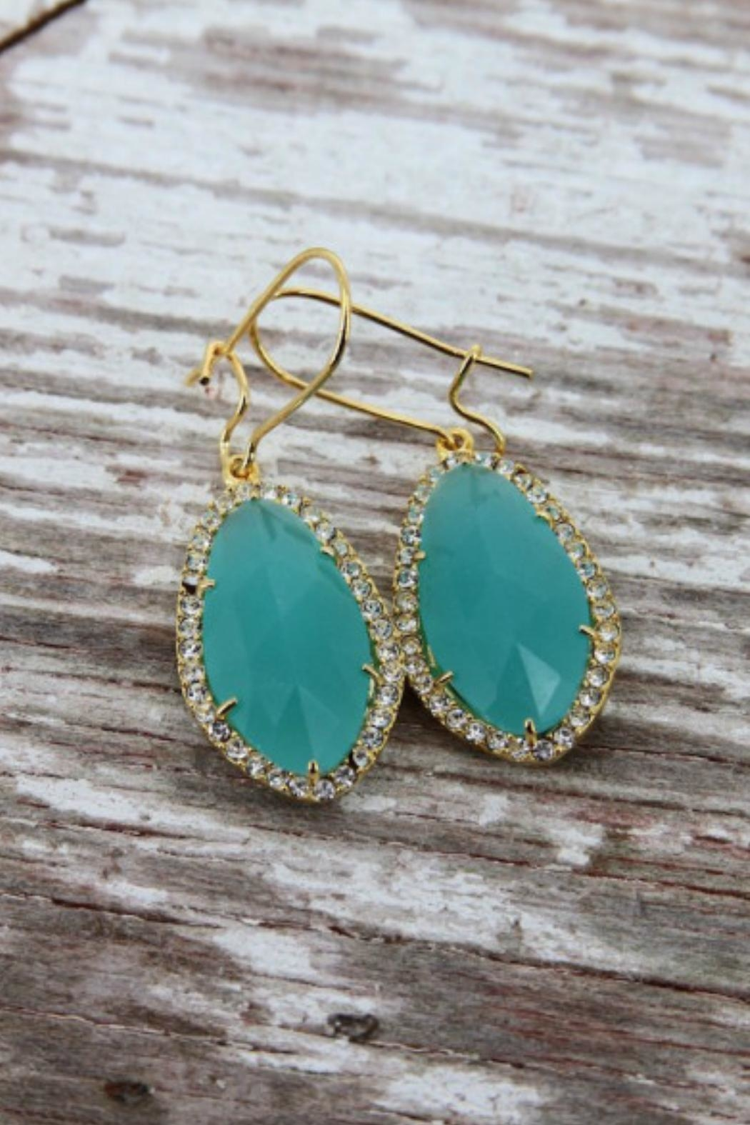 Gemma Collection Mint Crystal Earrings - Main Image