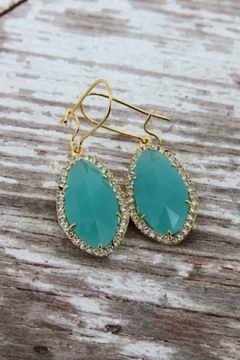 Shoptiques Product: Mint Crystal Earrings