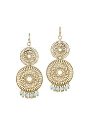 Gemma Collection Mint Filigree Earrings - Product Mini Image