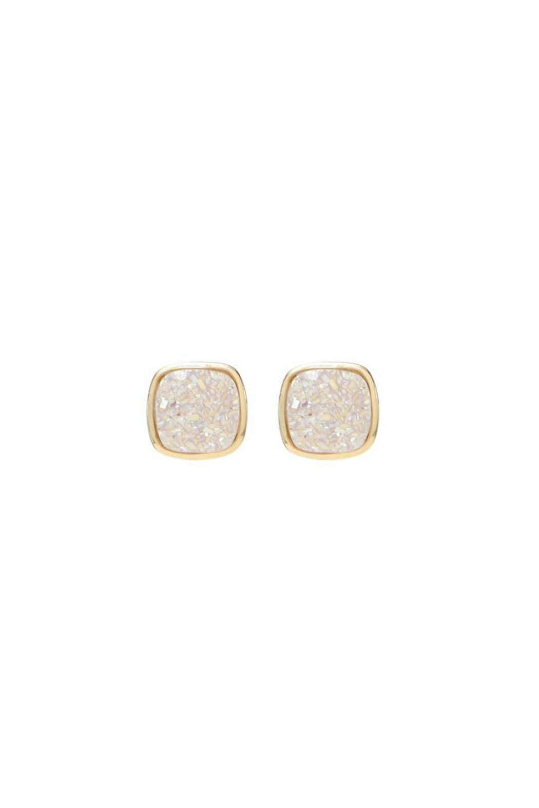 Gemma Collection Natural Druzy Studs - Main Image