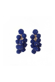 Gemma Collection Navy Ball Earrings - Front full body