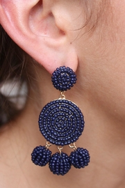 Gemma Collection Navy Eliano Earrings - Product Mini Image