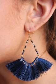 Gemma Collection Navy Tassel Earrings - Product Mini Image