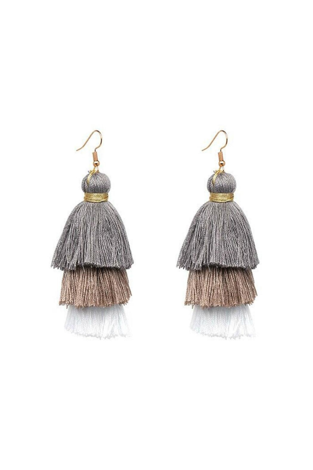 Gemma Collection Ombre Tassel Earrings - Main Image