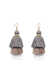 Gemma Collection Ombre Tassel Earrings - Front cropped