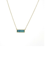 Gemma Collection Opal Bar Necklace - Product Mini Image