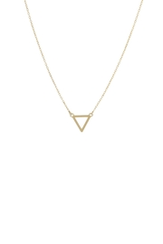 Gemma Collection Open Triangle Necklace - Product Mini Image