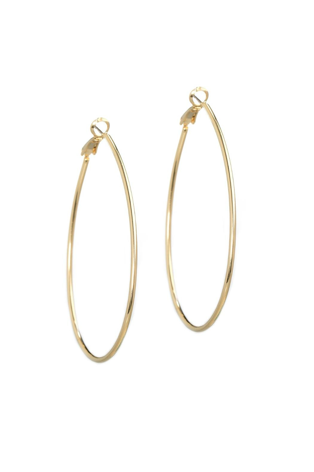 Gemma Collection Oval Hoop Earrings - Main Image
