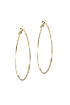 Gemma Collection Oval Hoop Earrings - Product List Image