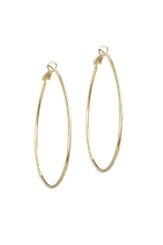 Gemma Collection Oval Hoop Earrings - Front cropped