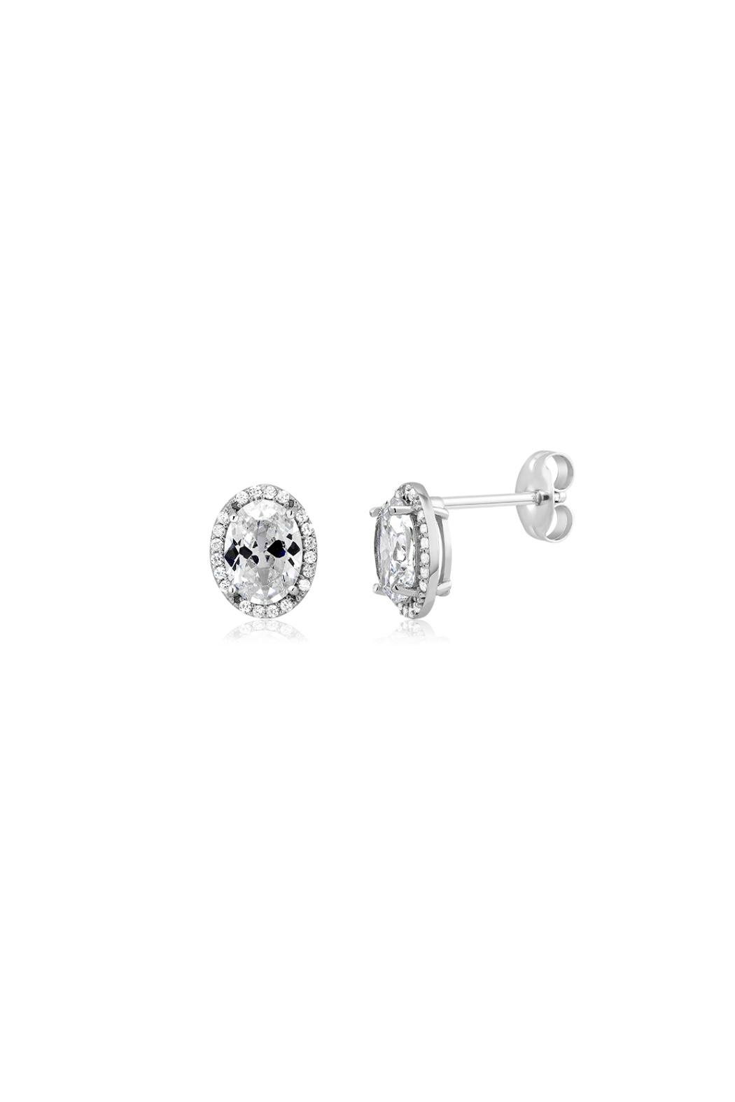 Gemma Collection Oval Pave Studs - Main Image