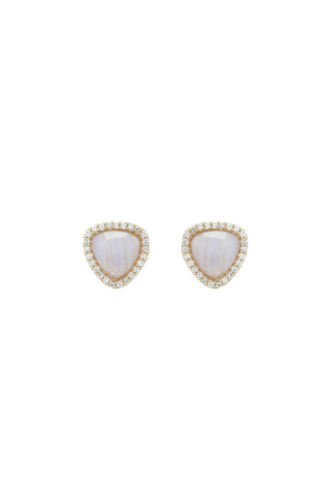 Gemma Collection Pave Agate Earrings - Main Image