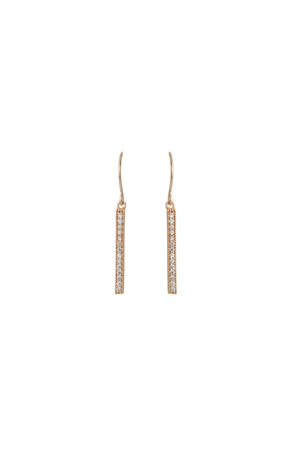Gemma Collection Pave Bar Earrings - Main Image