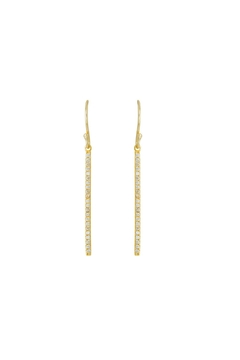 Gemma Collection Pave Bar Earrings - Alternate List Image