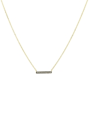 Gemma Collection Pave Bar Necklace - Front cropped