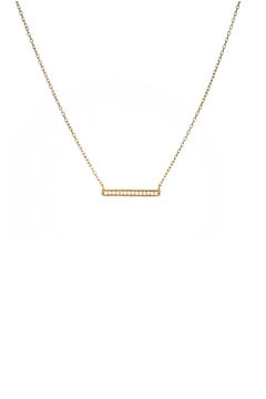Gemma Collection Pave Bar Necklace - Product List Image