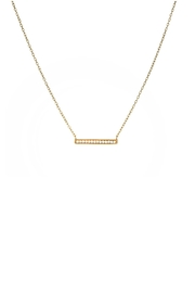 Gemma Collection Pave Bar Necklace - Product Mini Image