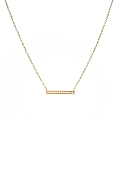 Shoptiques Product: Pave Bar Necklace