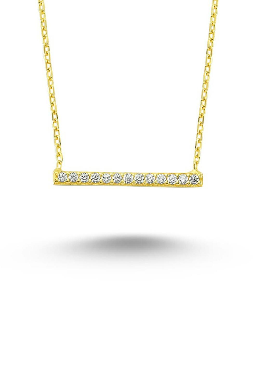 Gemma Collection Pave Bar Necklace - Front Cropped Image