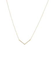 Gemma Collection Pave Chevron Necklace - Product Mini Image
