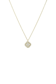 Gemma Collection Pave Flower Necklace - Front cropped