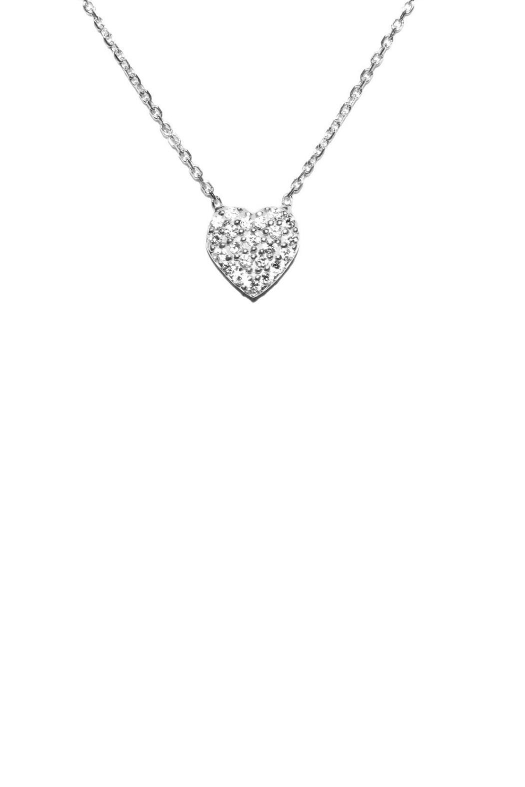 Gemma Collection Pave Heart Necklace - Main Image