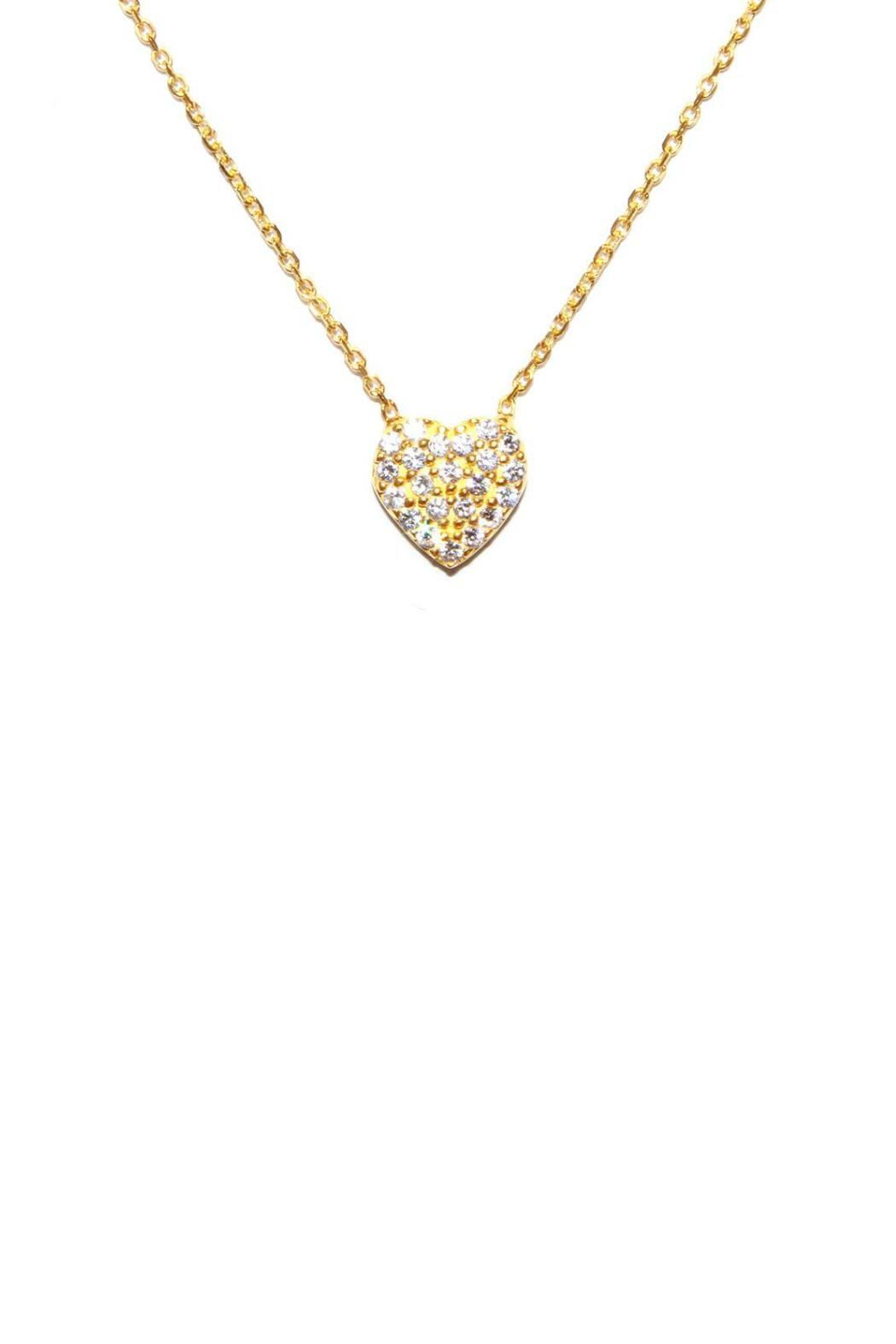 Gemma Collection Pave Heart Necklace - Front Cropped Image