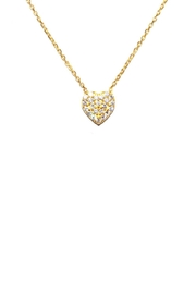 Gemma Collection Pave Heart Necklace - Front cropped
