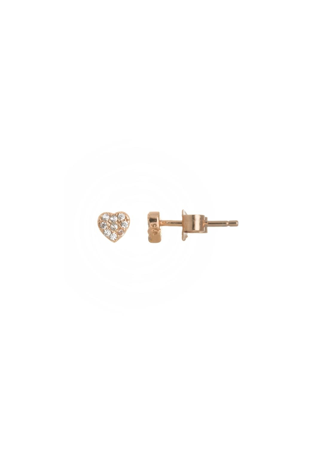 Gemma Collection Pave Heart Studs - Main Image