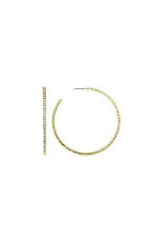 Gemma Collection Pave Hoop Earrings - Product Mini Image