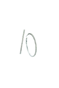 Shoptiques Product: Pave Hoop Earrings