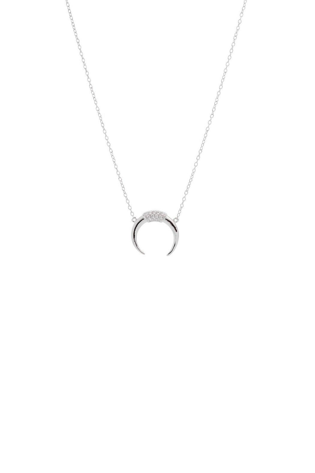 Gemma Collection Pave Horn Necklace - Main Image
