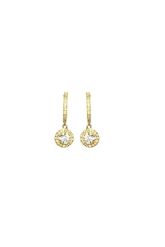 Shoptiques Product: Pave Huggie Earrings