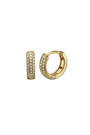 Gemma Collection Pave Huggie Hoop Earrings - Product Mini Image